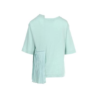 unbalance pleats detail blouse